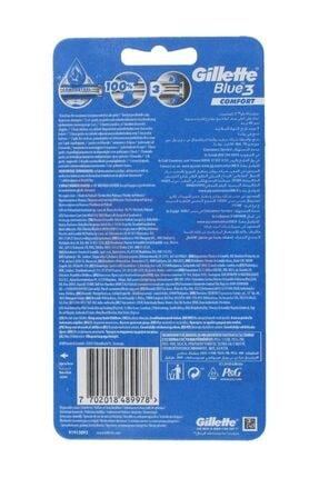 Gillette Blue3 Comfort Kullan-At Tıraş Bıçağı - 8'li 1