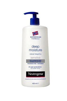 Neutrogena Hassas Ciltler İçin Parfümsüz Vücut Losyonu  - Deep Moisture 400 ml 3574661018201 0