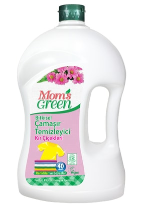 Mom's Green Bitkisel Çamaşır Deterjanı 2 LT - KIR ÇİÇEKLERİ 0