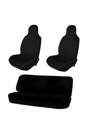 1araba1ev Hyundai Genesis Araç Servis Atlet Kılıf Penye Logosuz Siyah 0