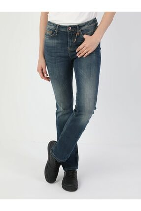 Colin's 791 Monica Normal Kesim Normal Bel Çizme Paça Koyu Mavi Kadın Pantolon .CL1048929_Q1.V1_DN40906 3