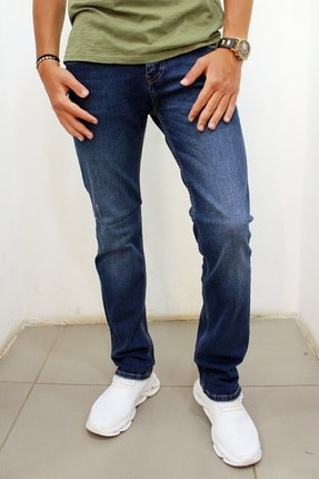 Cold Jeans Mars 9134-10 Erkek Likralı Kot Pantolon Mavi resmi