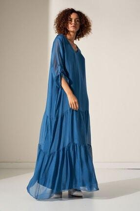 Camena V Yaka Ipek Elbise 2019070500196 1