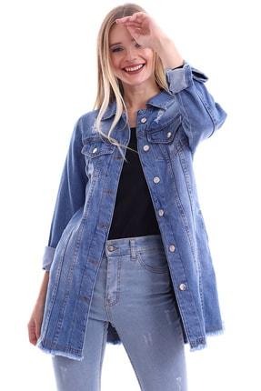 My Style Kadın Buz Mavi Dilek Kot Ceket 1