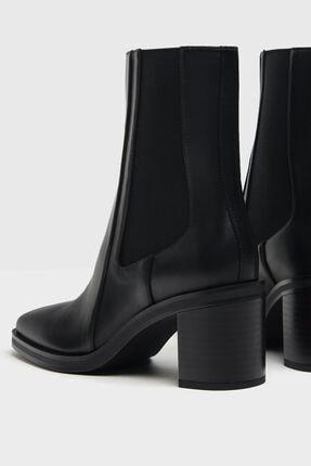 Bershka Kadın Siyah Topuklu Bot 3