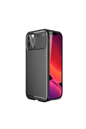 KNY Apple Iphone 12 Pro Kılıf Karbon Desenli Lux Negro Silikon+cam Ekran Koruyucu 0