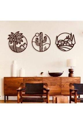 Creality Concept Siyah Ahşap Palm Duvar Dekoru 1