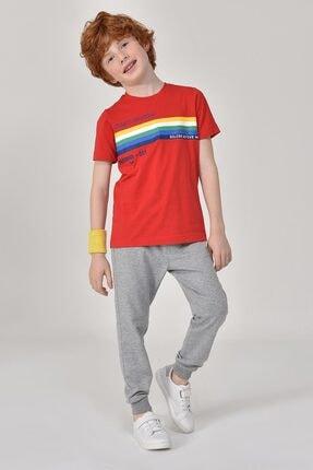 bilcee Unisex Çocuk Kırmızı T-Shirt GS-8145 3