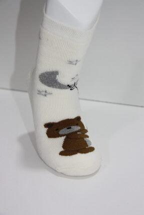Baby Stromper Çocuk 5li Havlu Tabanaltı Abs Baskılı Ayı Desenli Çorap 2