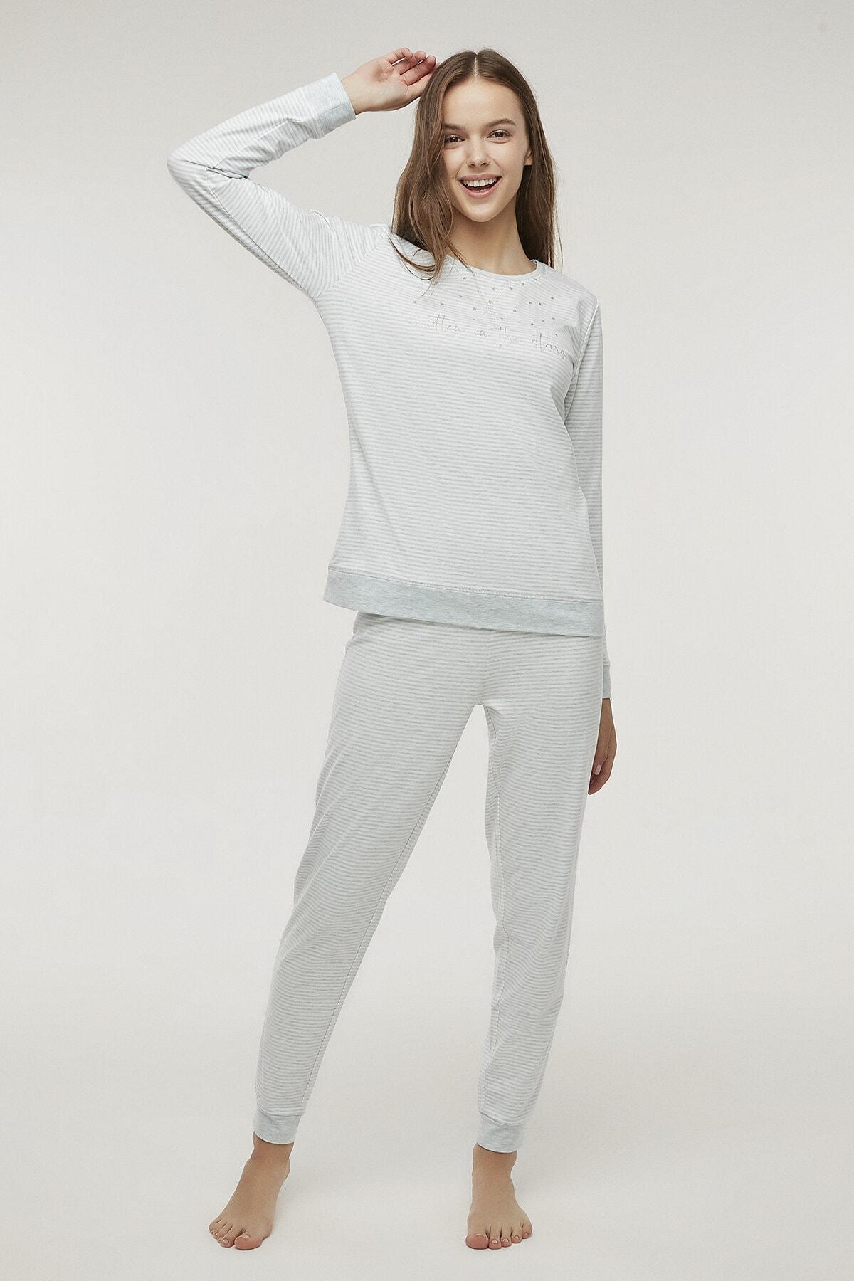 Penti Kadın Stripy Pijama Takımı 0