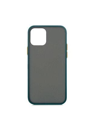MOBAX Apple Iphone 12 Pro Kılıf Arka Buzlu Mat Kapak Koyu Yeşil 0