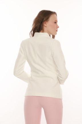MANGOSTEEN Kadın Beyaz Çıtçıtlı Klasik Ceket 4
