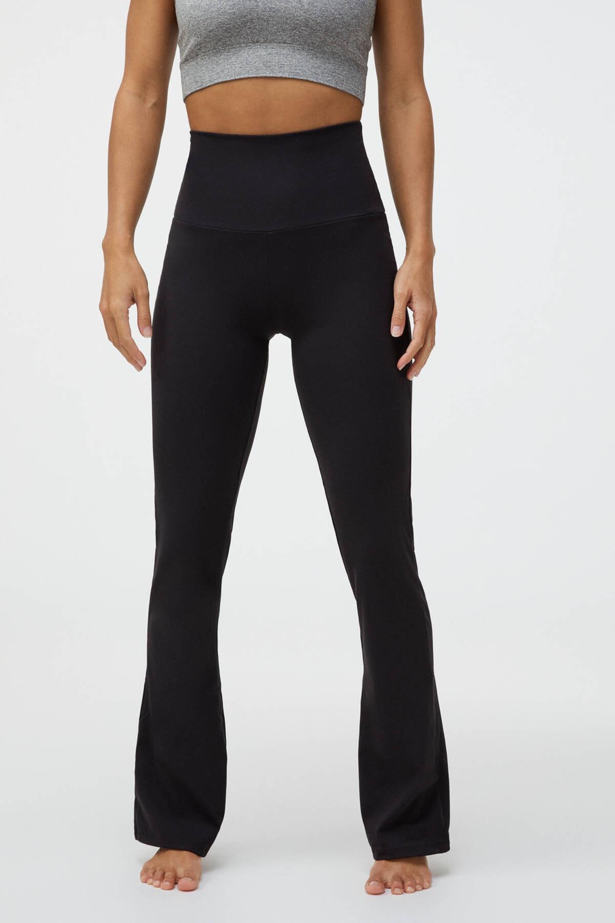 Oysho Kadın Siyah Flare Comfort Pantolon 0