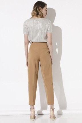 Arma Life Kadın Kahverengi Tokalı Kumaş Pantolon 4