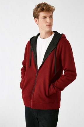 Koton Erkek Bordo Sweatshirt 1KAM71089LK 1