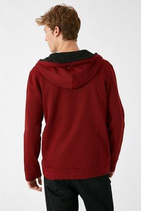 Koton Erkek Bordo Sweatshirt 1KAM71089LK 3