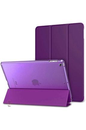 MOBAX Apple Ipad Air 2 Kılıf Pu Deri Smart Case A1566 A1567 Mor 0