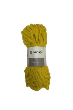 Kartopu Wool Decor Sarı El Örgü Ipi - K1322 0