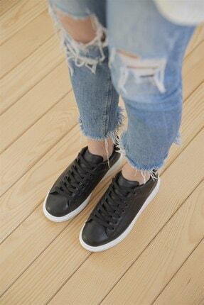 Straswans Kadın Siyah Pixie Deri Spor Ayakkabı 3