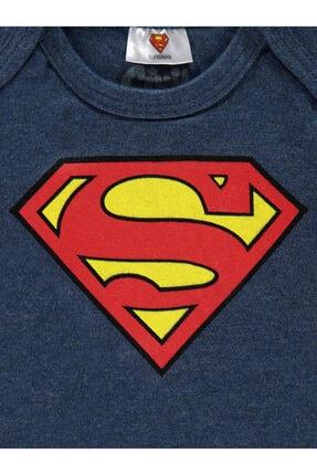 Superman Erkek Bebek Lacivert Çıtçıtlı Badi 2