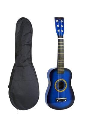 PM Mavi Çocuk Gitar 3-4 Yaş İçin Kılıf Ve Pena 0