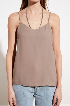TRENDYOLMİLLA Açık Kahverengi Basic Bluz TWOSS19BB0224 2