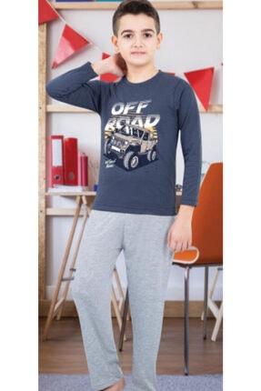 nacar çarşı Erkek Çocuk Gri Penye Pijama Takımı 0