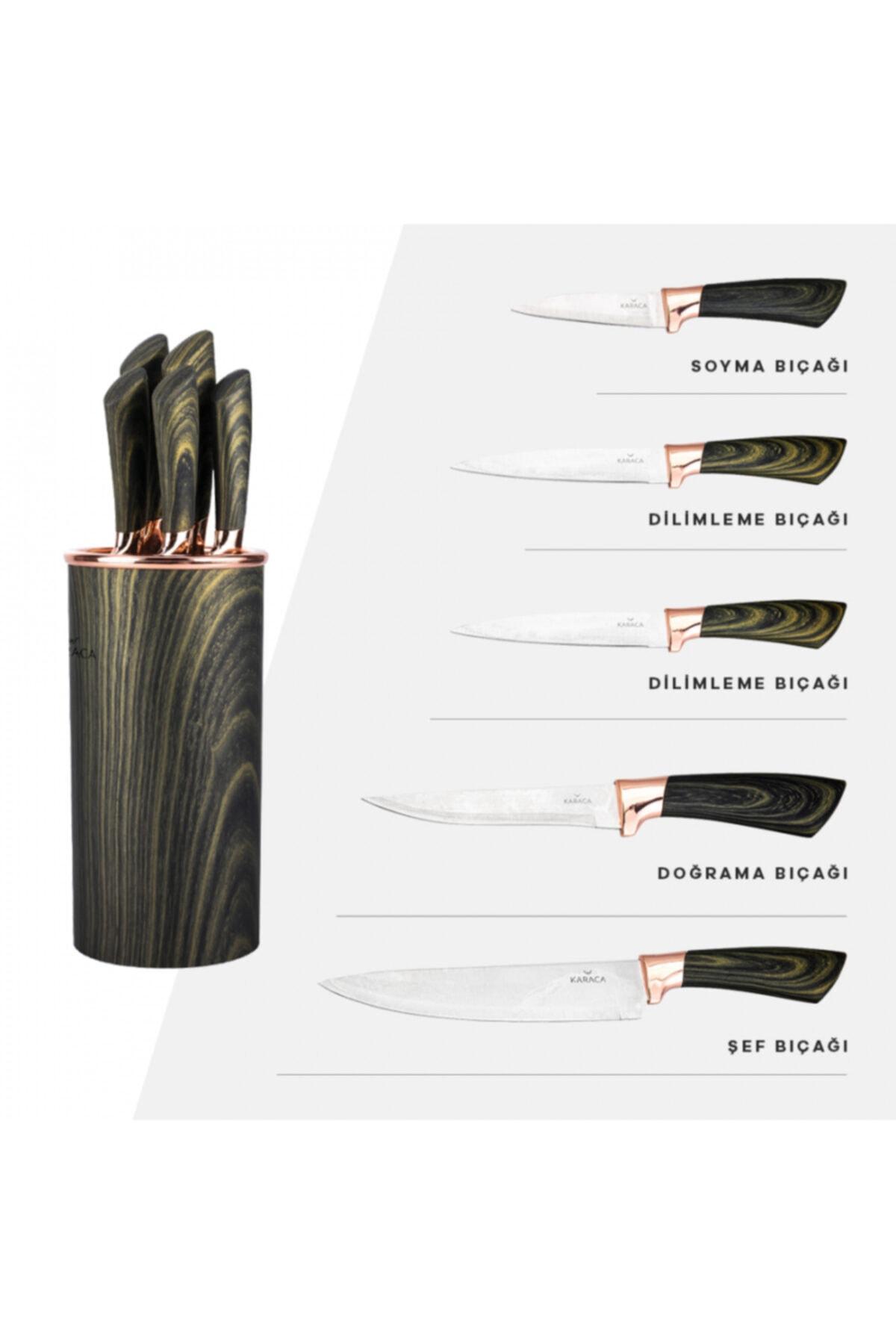 Karaca Wave Green 6 Parça Bıçak Seti