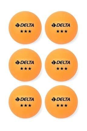 Delta 6 Adet Turuncu Masa Tenisi Topu ( Pinpon Topu ) 0
