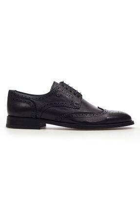 MARCOMEN Siyah Lazer Detaylı Hakiki Deri Bağcıklı Erkek Klasik Ayakkabı • A20eymcm0024 1