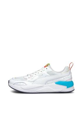 Puma X-RAY² SQUARE RAINBOW Beyaz Erkek Sneaker Ayakkabı 101085338 3