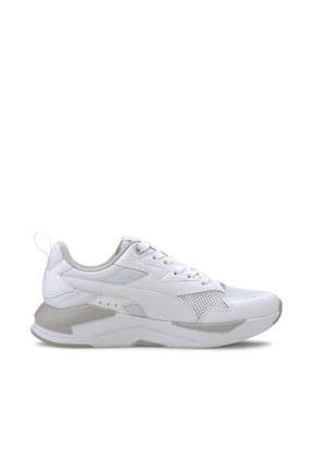 Puma X-RAY LITE JR Beyaz Kız Çocuk Sneaker Ayakkabı 100660673 4