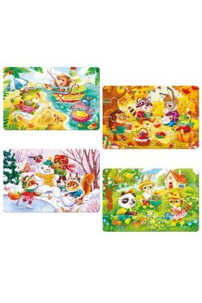 zekaoyunkitap Circle Toys 4 Mevsim Puzzle (12-16-20-24 Parça) 0