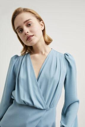 adL Kadın Mint Kruvaze Bluz 2