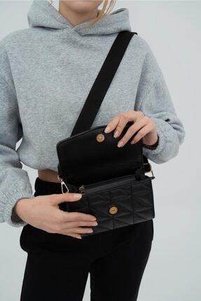 Shule Bags Kolon Askılı Baget Çanta Brenda Siyah 4