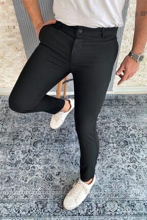 VİP LOKAL Erkek Siyah Kumaş Pantolon 1