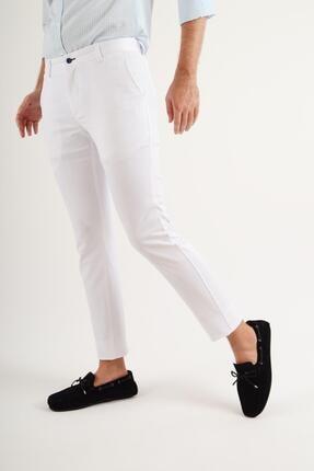 Luppo Club Günlük Kumaş Beyaz Erkek Pantolon Salacak 0