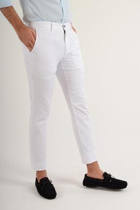 Luppo Club Günlük Kumaş Beyaz Erkek Pantolon Salacak 3