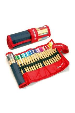 Stabilo Point 88 İnce Keçe Uçlu Kalem 25 Renk Rulo Çantalı Set 1