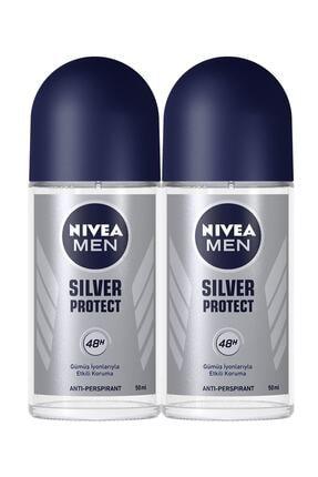Nivea Men Silver Protect Erkek Deodorant Roll-on 50 Ml 2'li 0