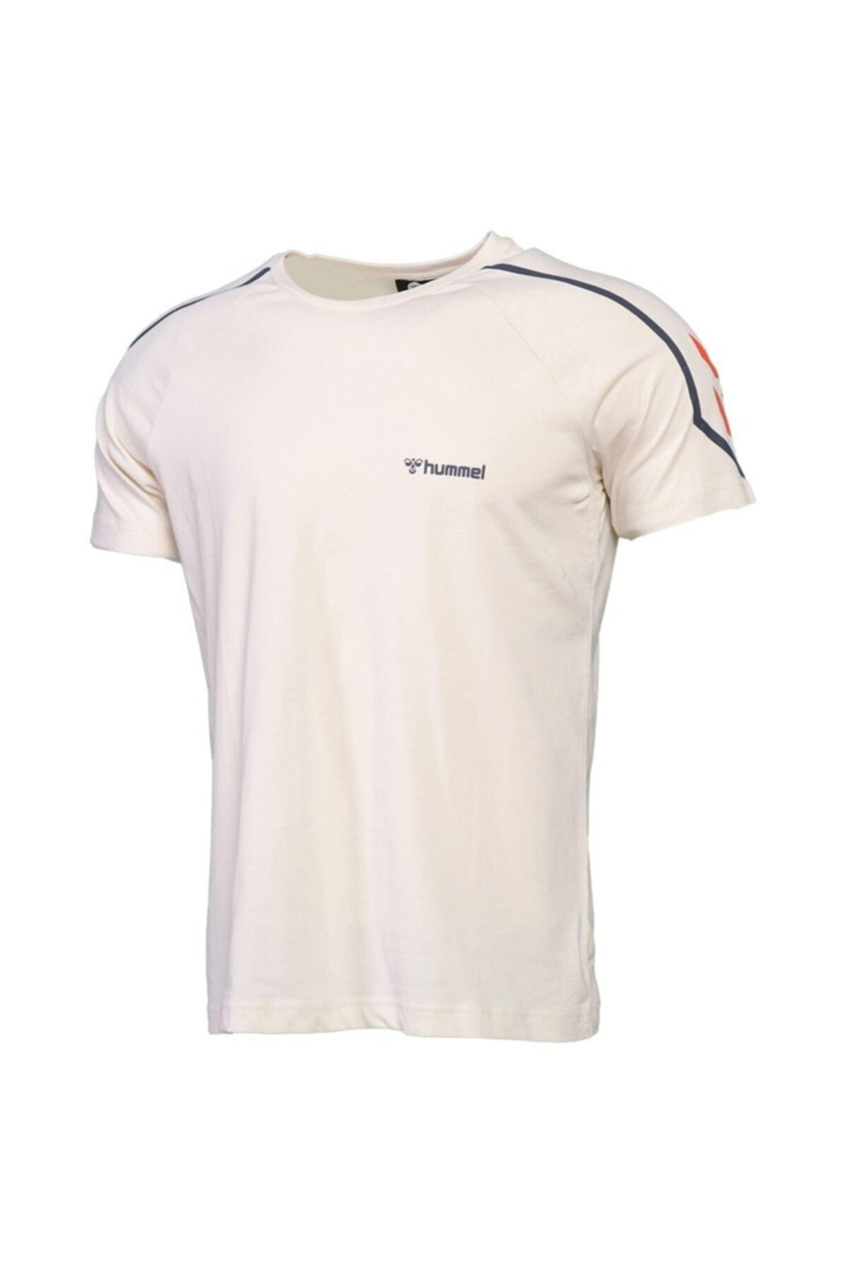 HMLADMON T-SHIRT S/S TEE Ekru Erkek T-Shirt 101086470