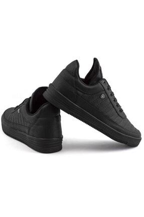 L.A Polo Erkek  Dikişli Siyah  Sneaker 07 3