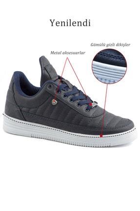 L.A Polo 07 Dikişli Lacivert Beyaz Erkek Spor Ayakkabı 4