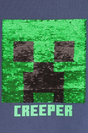 Minecraft Çocuk Minecraft Creeper T-shirt Lacivert 2
