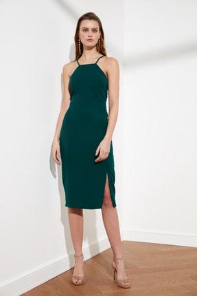 TRENDYOLMİLLA Zümrüt Yeşili Askılı Elbise TWOSS19BB0501 2