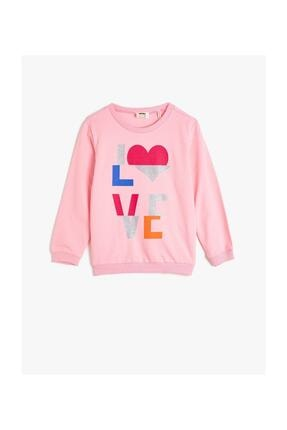 Koton Kız Çocuk  Pembe  Sweatshirt 0