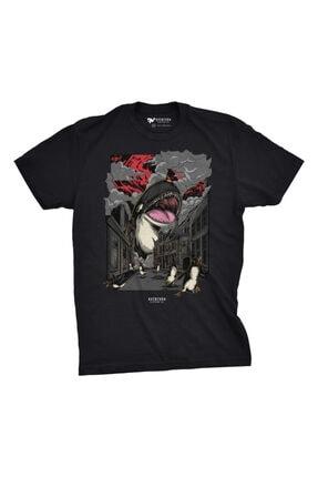 Aventura Clothing Co %100 Pamuk, Regular Fit, Bisiklet Yaka, Baskılı Tshirt - Attack Of The Orca 1 2