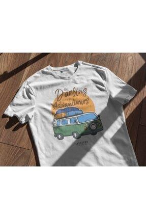 Aventura Clothing Co %100 Pamuk, Regular Fit, Bisiklet Yaka, Baskılı Tshirt - Good Vibes Only 4 4