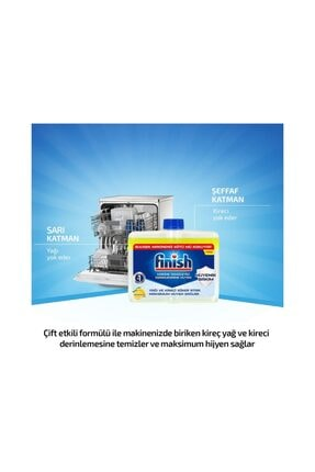 Finish Bulaşık Makinesi Temizleyici Sıvı Limon 250 ml 3
