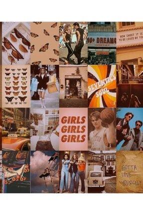 bukashops Vintage Retro 70'lı Duvar Posteri Seti 4